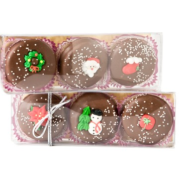3-pc. Chocolate-covered Christmas Oreos