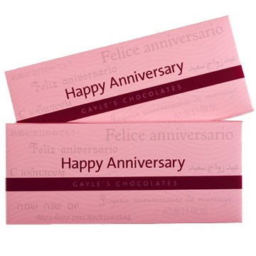 Happy Anniversary Chocolate Bar