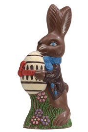 Chocolate Bunny with Decorated Egg