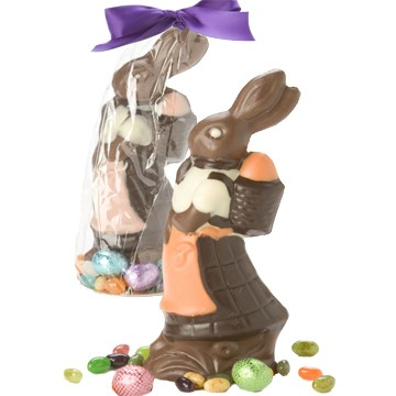 Chocolate Girl Bunny with Back Pack