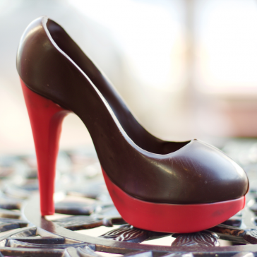 New Red Platform Chocolate Shoe