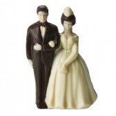 Small Bride and Groom Cake Topper