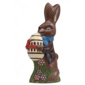 Large Chocolate Bunny with Decorated Egg