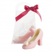 Small Pink Chocolate High Heel Shoe