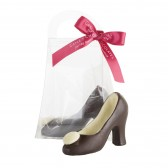 Small Dark Chocolate High Heel Shoe