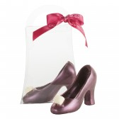 Small Dark Chocolate Red High Heel Shoe