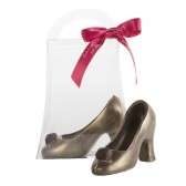 Small Dark Chocolate Gold High Heel Shoe