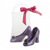 Small Milk Chocolate Violet High Heel Shoe