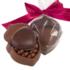 Chocolate Acorn Box with Almonds