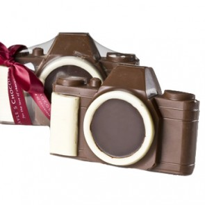 Solid Milk Chocolate 35mm Camera In Box