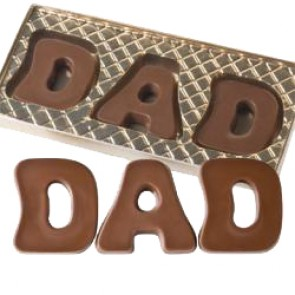 Chocolate DAD Letters