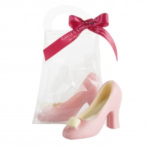 Small Pink Chocolate Shoe