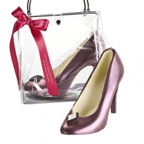 Chocolate High Heel Shoe - Deep Red Pump
