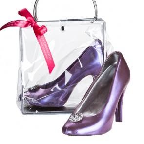 Chocolate High Heel Shoe - Violet Pump