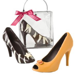 Zebra or Orange Chocolate High Heel Shoes