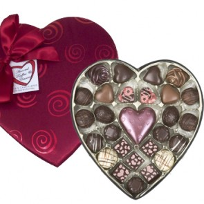 Large Pizazz Heart Chocolate Box