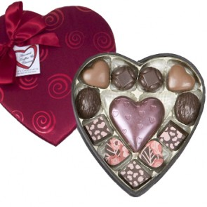 Medium Pizazz Heart Chocolate Box